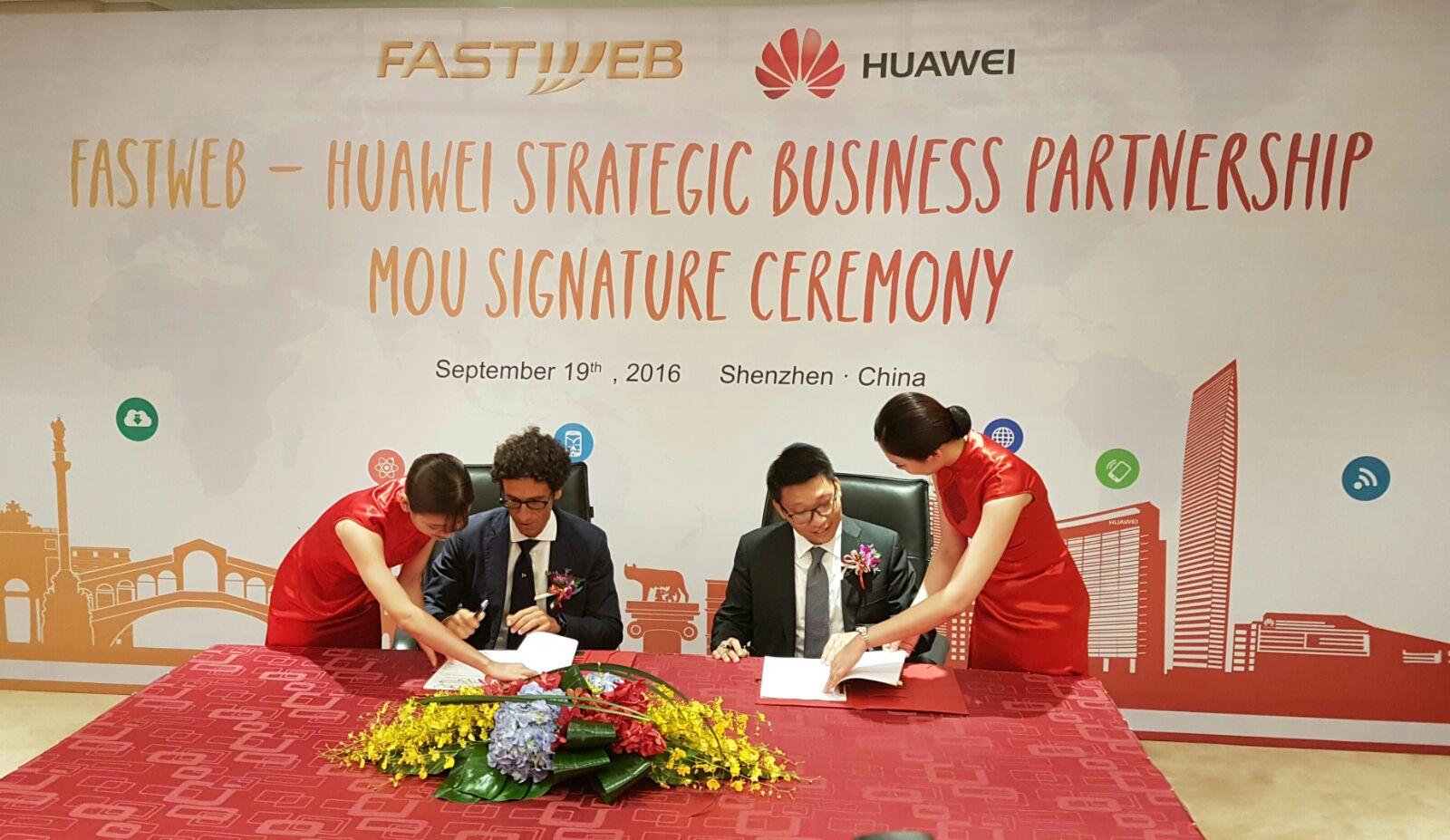 Verso il 5G Fastweb e Huawei siglano una partnership strategica