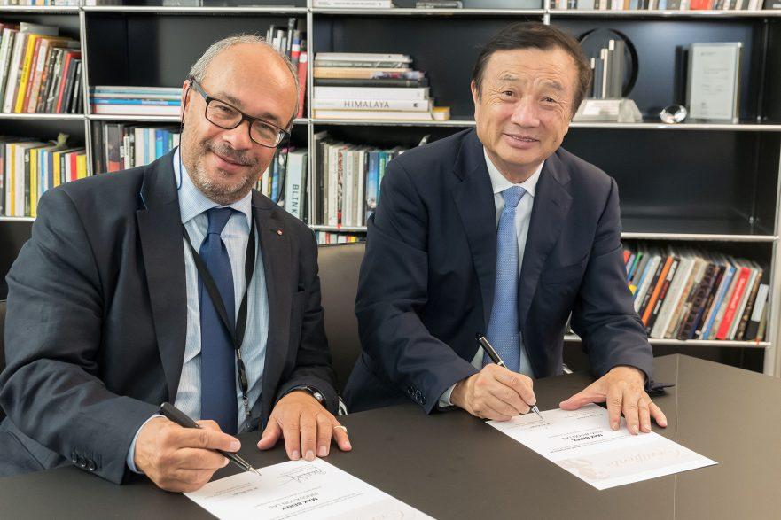 Ren Zhengfei (Huawei) e Andreas Kaufmann (Leica)