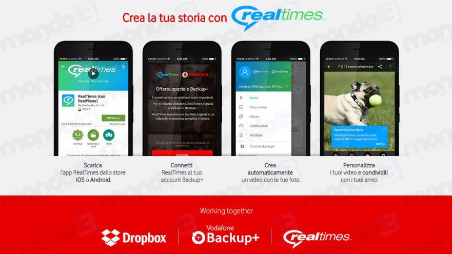 Backup+ e RealTimes gratis con Vodafone