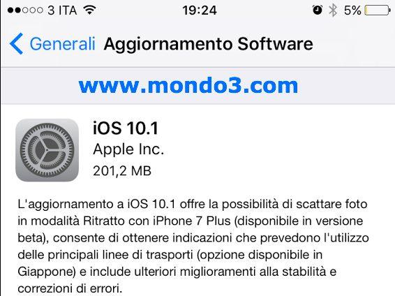 IPhone 7 plus, modalità