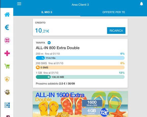 App Area Clienti 3 iPad