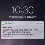 Promo 100 Giga: SMS disattivazione 2016 e rinnovo 2017
