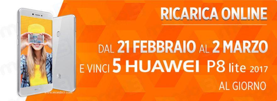 Concorso Wind RICARICA E VINCI 21 Febbraio Huawei P8 Lite 2017