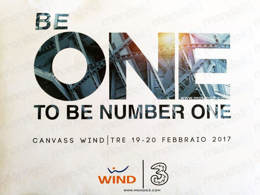 BE ONE TO BE NUMBER ONE - Convention Wind Tre 19-20 Febbraio 2017