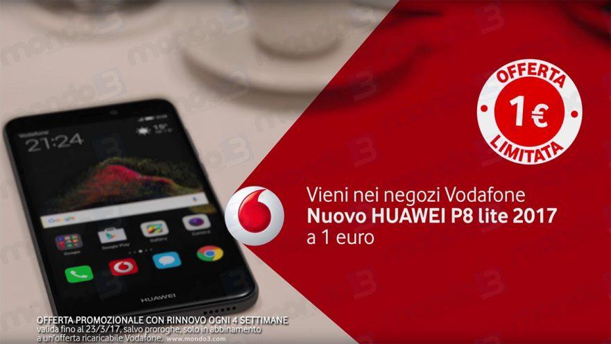 Huawei P8 Lite 2017 a 1 Euro con Vodafone