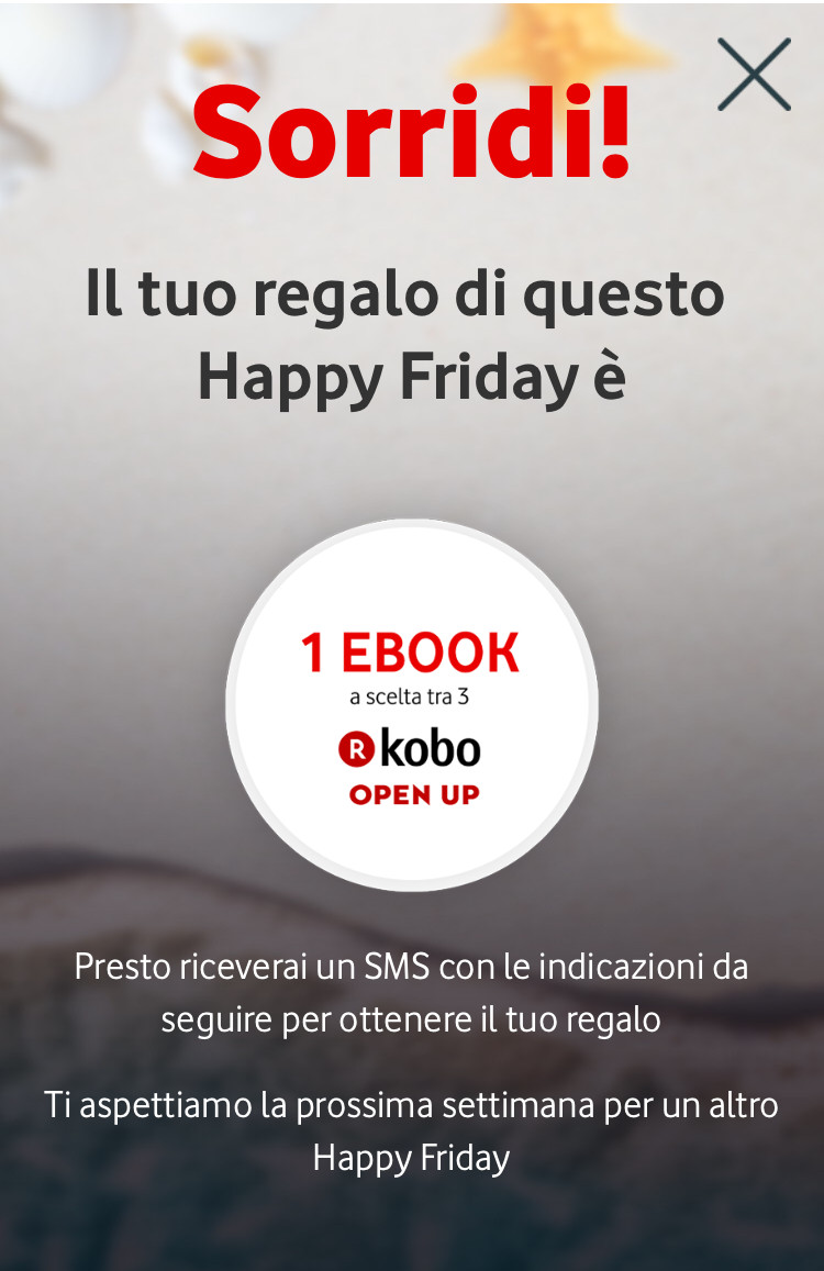 Vodafone Happy Friday 14 aprile 2017 ebook gratis