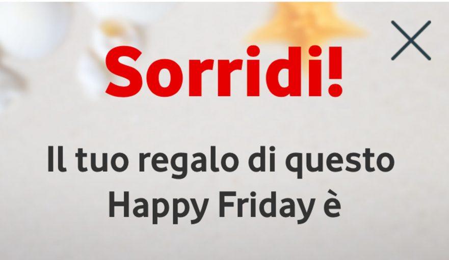 Vodafone Happy Friday: il regalo del venerdì