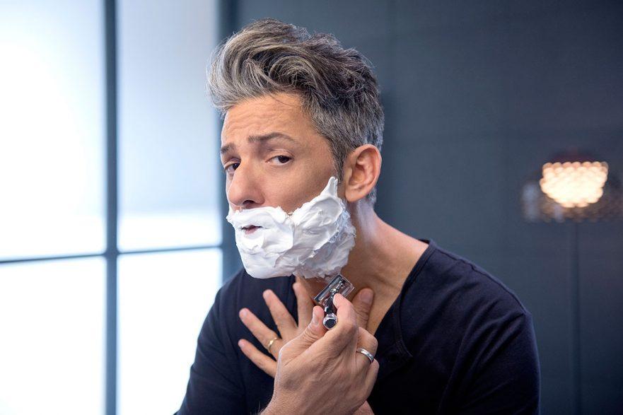 Spot TV Fiorello per Wind Magnum - barba - rasatura