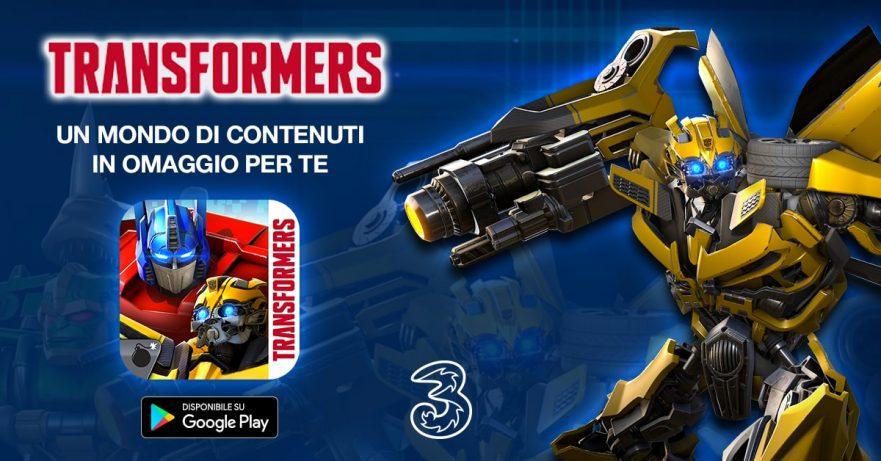 Transformers: Combattenti - promozione Google Play Store