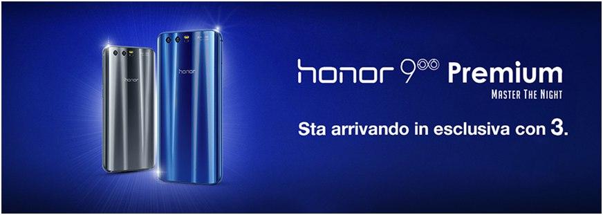 Honor 9 Premium con 3 Italia