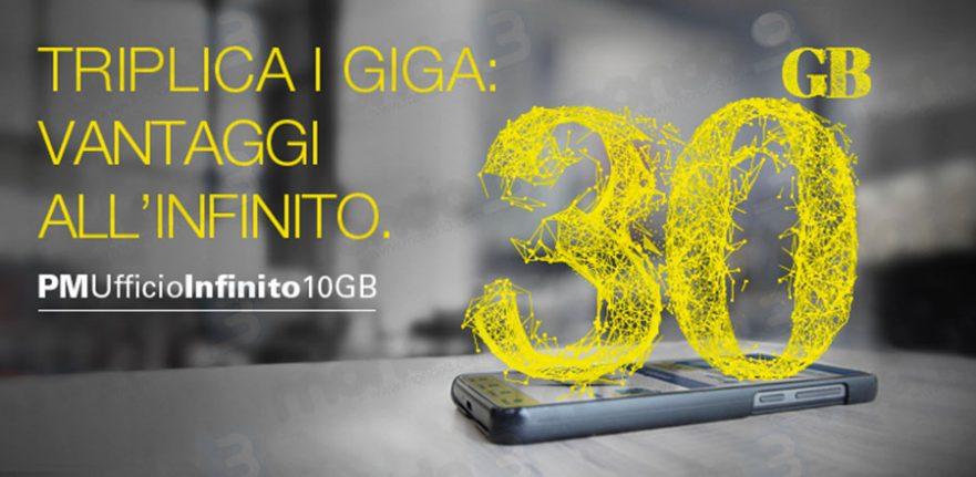 PM Ufficio Infinito promo settembre 2016 triplica i Giga