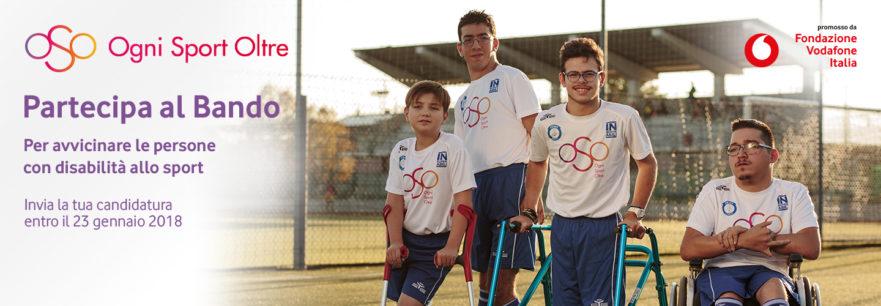 OSO (Ogni Sport Oltre): il bando 2018 by Fondazione Vodafone Italia