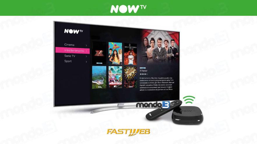 NOW TV e Fastweb