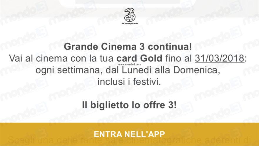 Grande Cinema 3, card prorogata fino a marzo 2018