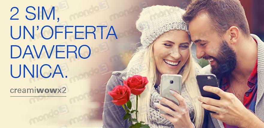 PosteMobile: Creami WOW X2 (Promo San Valentino 2018)