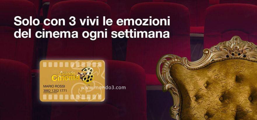 Grande Cinema 3: un biglietto alla settimana con la card GOLD