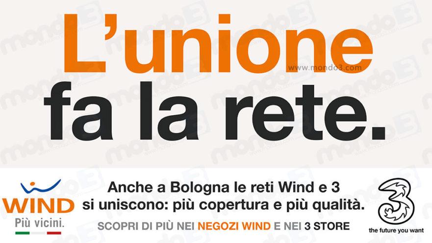 L'unione fa la rete: anche a Bologna terminato il processo di unione Wind 3