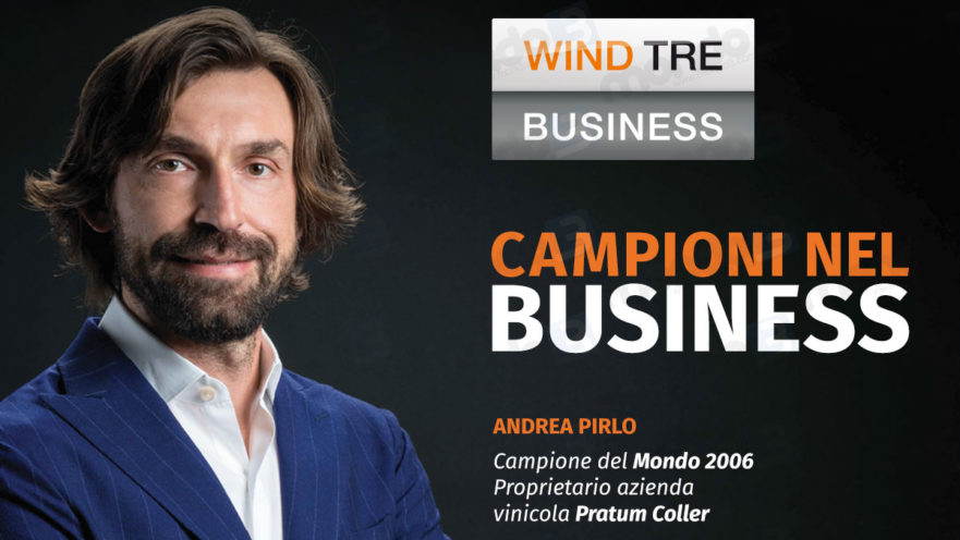 Andrea Pirlo per Wind Tre Business