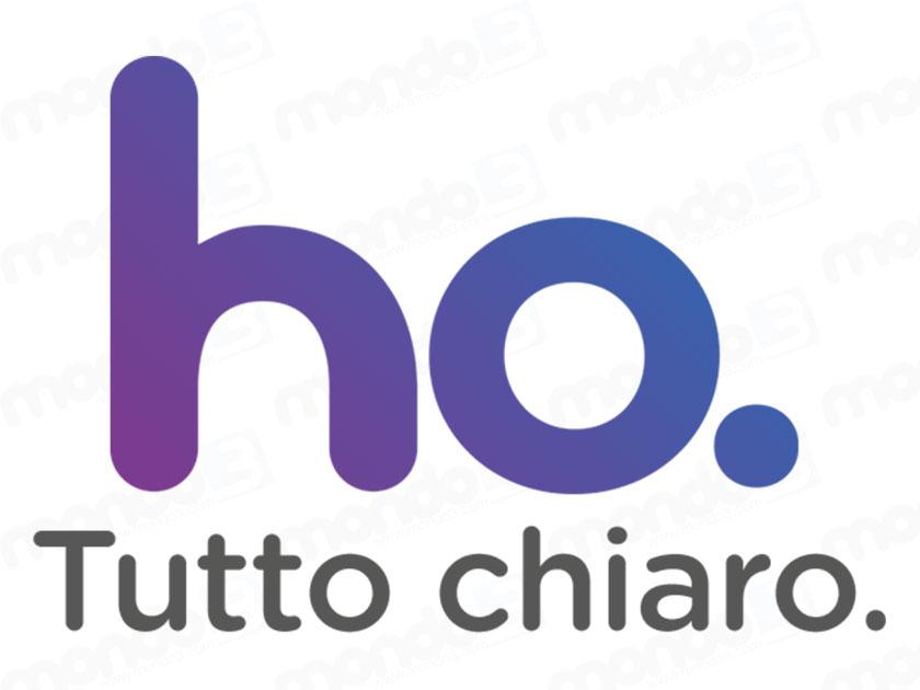 ho. Tutto chiaro. (Logo MVNO ho. mobile - VEI by Vodafone)
