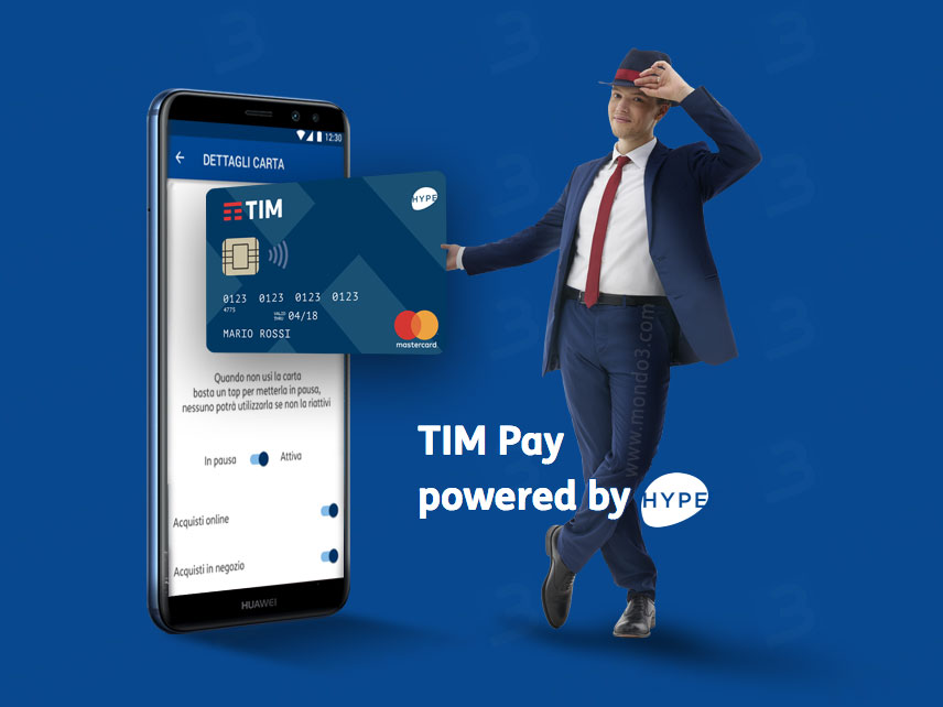 TIM Pay powered by HYPE (TIMpersonal contactless Mastercard)