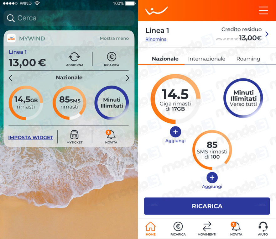 App MyWind: restyling settembre 2018