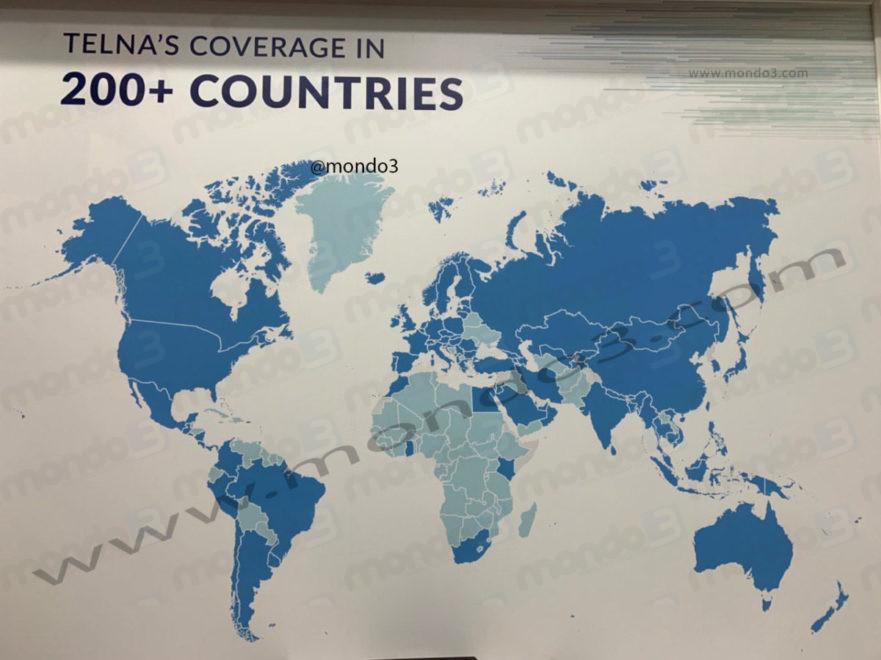 Telna: la mappa di copertura ufficiale #MWC19 @mondo3