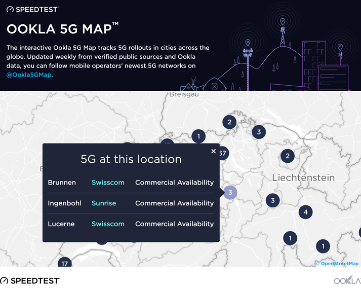 Mappa 5G by Ookla