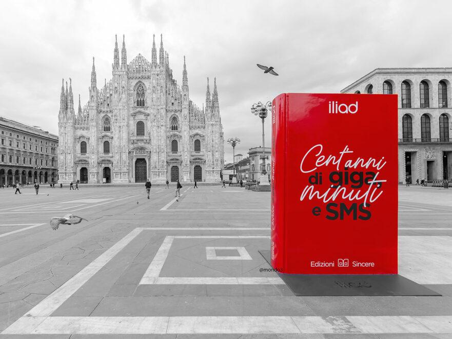 Cent'Anni di Giga, Minuti e Sms: l'installazione di iliad in piazza Duomo a Milano