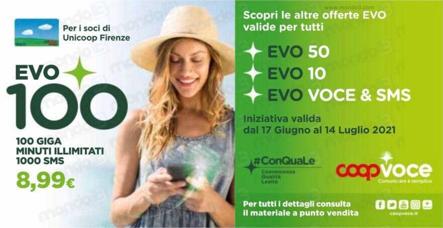 CoopVoce EVO100, promozione limited edition per Unicoop Firenze dal 17 giugno 2021