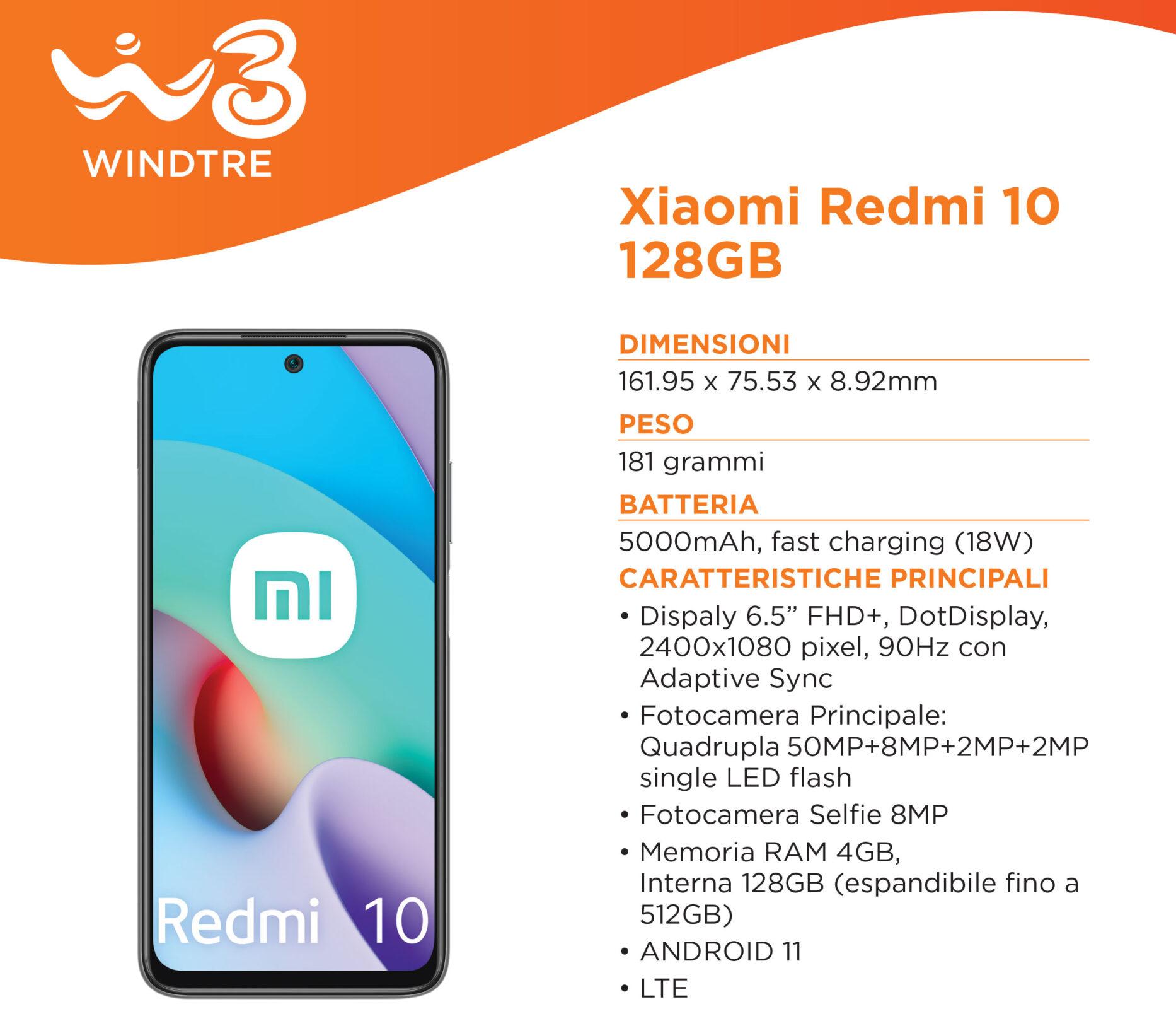 Xiaomi Redmi 10 128 GB WINDTRE